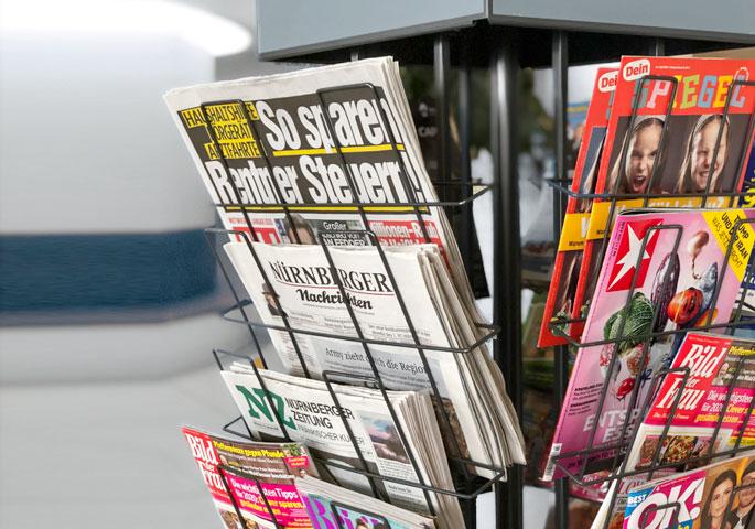 Zeitungsauslage